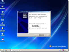Installing Windows Home Server Power Pack 1