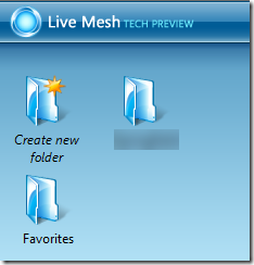 Favorites folder on Live Desktop
