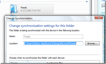 Sync settings in deviceB