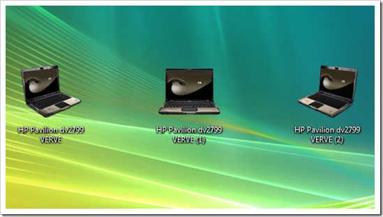 HP Pavilion dv2799 My Computer Icons
