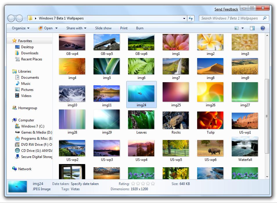 Windows 10 Wallpaper Pack: Windows 7 Beta – Wallpaper Pack