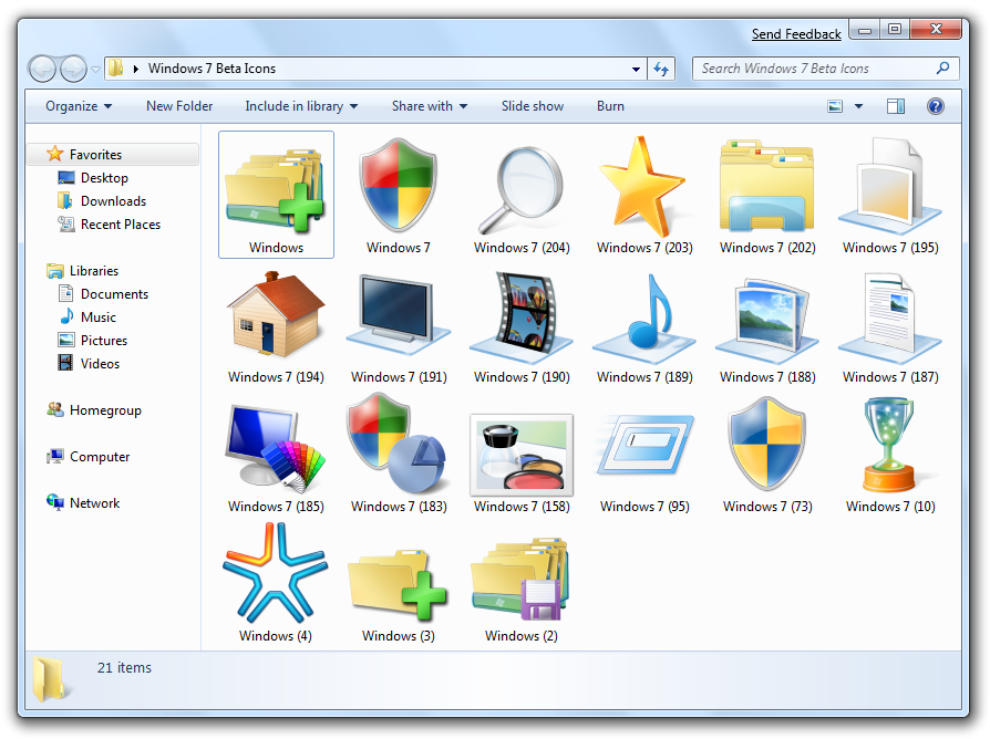 windows 7 how to change icons