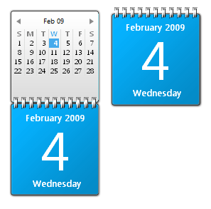 Blue Calendar Gadget for Windows 7
