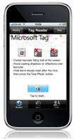 Microsoft Tag on iPhone