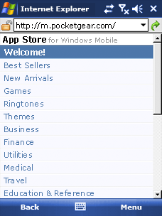 App Store for Windows Mobile