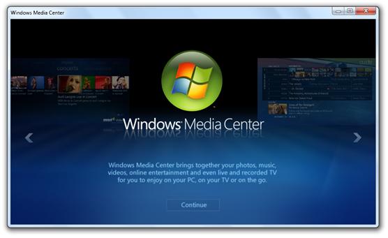 Windows 7 Build 7022 - Media Center