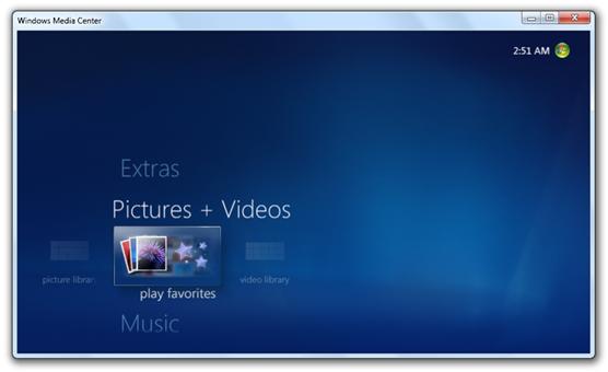 Windows 7 Build 7022 - Media Center (2)
