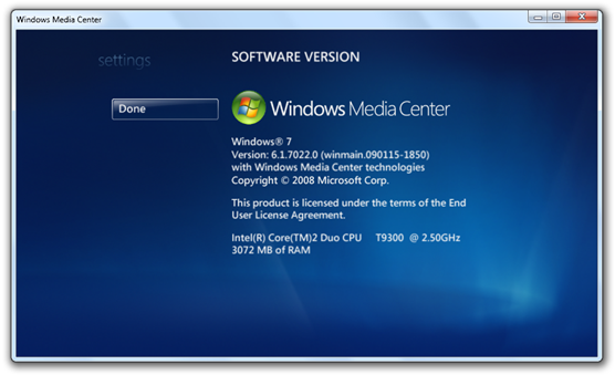 Windows 7 Build 7022 - Media Center (5)