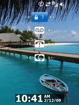 Windows Mobile 6.5 (lockscreen)