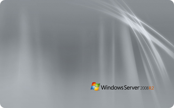 Windows Server 2008 R2 wallpaper with black logo
