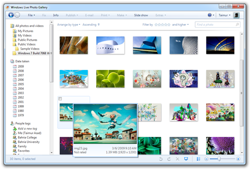 Windows 7 Build 7068 Wallpaper Pack