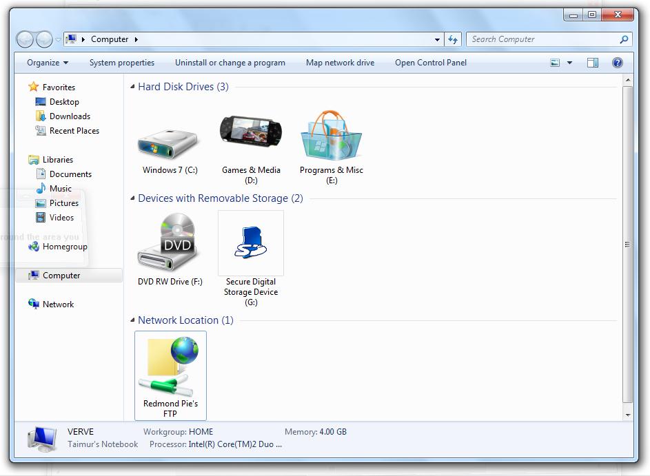 Ftp Windows 7