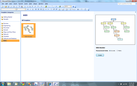 WBS Add-in for Visio 2007