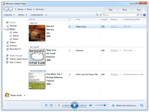 3 new sample music files have been added in this build of Windows 7.