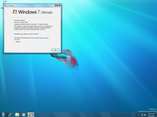 Windows 7 Build 7100 RC