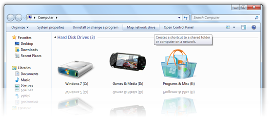 Windows 7 - Map Network Drive