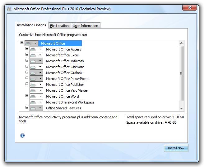 Office 2010 x64 Technical Preview – Screenshots | Redmond Pie