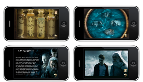 Harry Potter and the Half-Blood Prince on iPhone