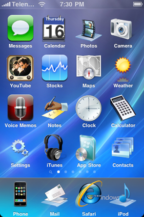 iphone message theme windows 7 theme for iphone redmond pie 12033