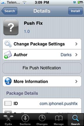 Install Push Fix App