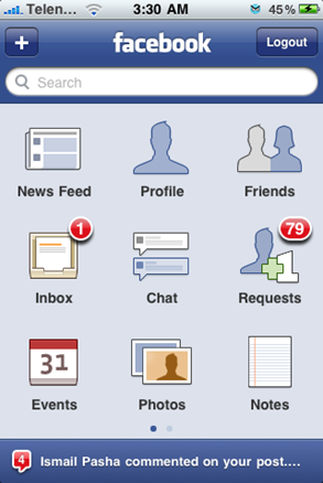 Facebook 3.0 for iPhone