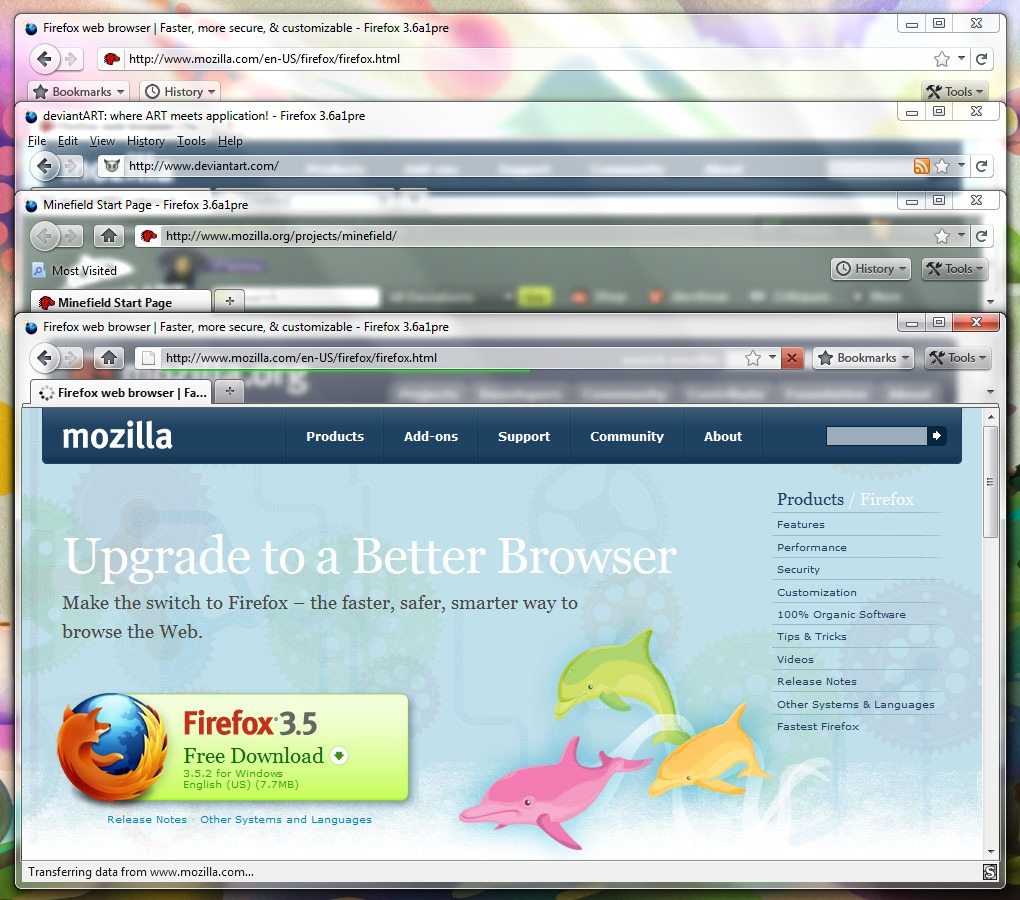 Download Firefox 4 0 Mockup Theme | Redmond Pie