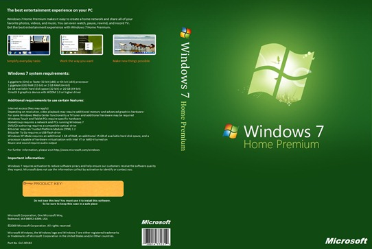 Windows 7 Home Premium DVD