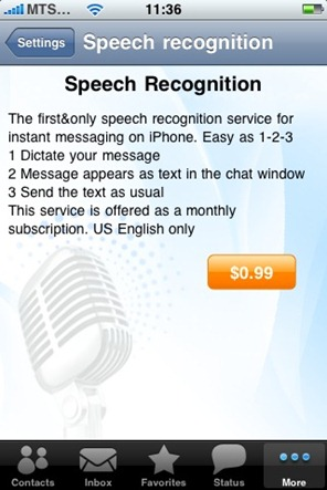 IM  3.4 for iPhone