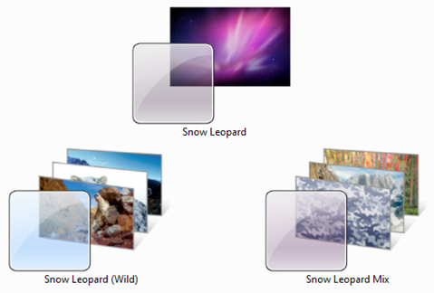 Mac OS X Snow Leopard Themes for Windows 7