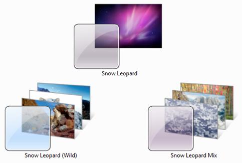 Mac OS X Snow Leopard Themes for Windows 7