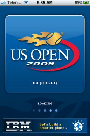 US Open 2009 iPhone App