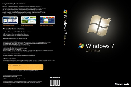 Windows 7 Ultimate DVD