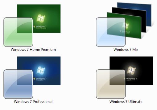 Windows 7 Box Art Themes