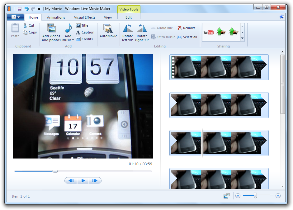 Windows Movie Maker (Windows Live Movie Maker) 2012 16.4.3528.0331