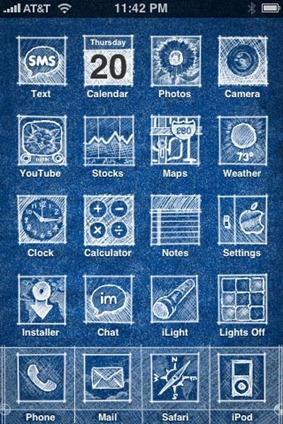 Iphone themes redmond pie funky background and buttons new is the right word for it malvernweather Gallery