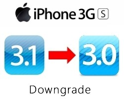 Downgrade iPhone 3GS from iPhone Firmware 3.1 to 3.0