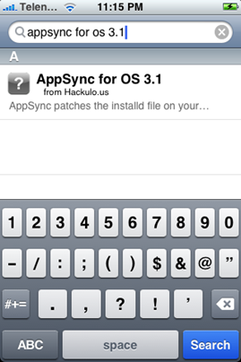 Cydia - AppSync for OS 3.1