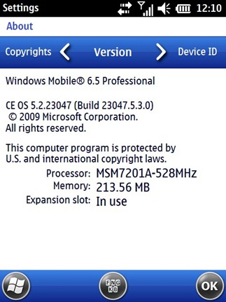 Windows Mobile 6.5 Build 23047
