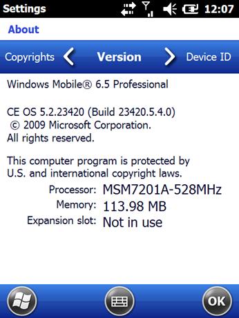 Windows Mobile 6.5 Build 23420 (1)