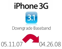Downgrade iPhone 3G OS 3.1 with Fuzzyband