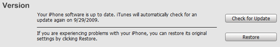 iTunes - Check for Update