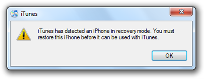 iTunes - iPhone Recovery Mode