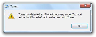 Fix 16xx and 21 Error during iPhone 3 1 Restore in iTunes | Redmond Pie