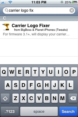 Carrier Logo Fixer for iPhone 3.1.2 Jailbreak