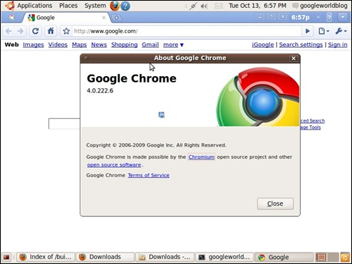 Google Chrome OS Browser
