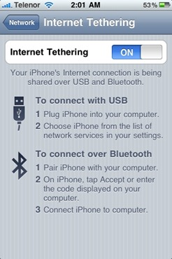 Enable Tethering on iPhone 3.1.2 Firmware [iPhone 3GS and iPhone 3G]