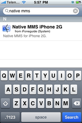 Enable MMS on iPhone 2G 3.1.2 Firmware