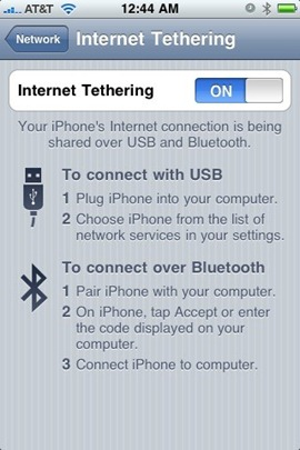 iPhone 3.1.2 Tethering