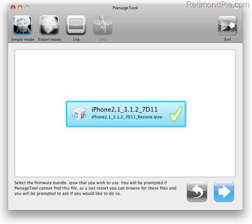 Jailbreak iPhone on 3.1.2 with PwnageTool 3.1.4