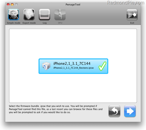Jailbreak iPhone 3GS with PwnageTool 3.1